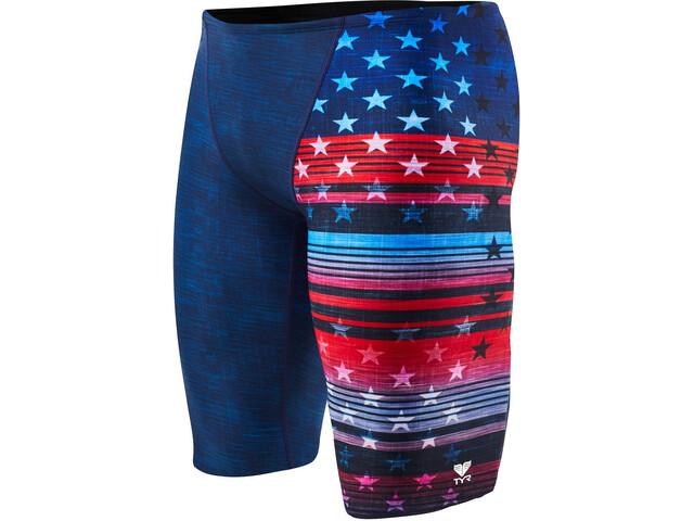 TYR Liberty Allover Bañadores Hombre, red/white/blue